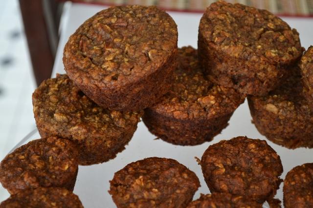 Carrot date banana muffins