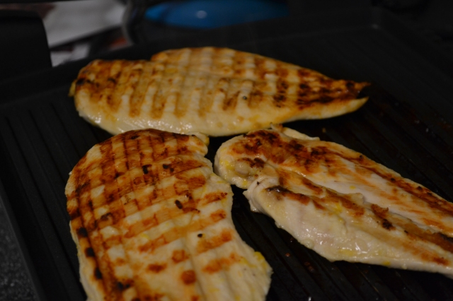 chicken on the panini maker