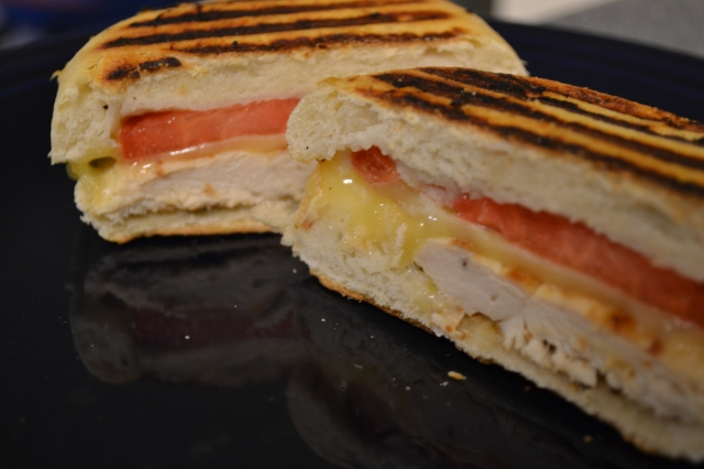 chicken, tomato and mozzarella panini