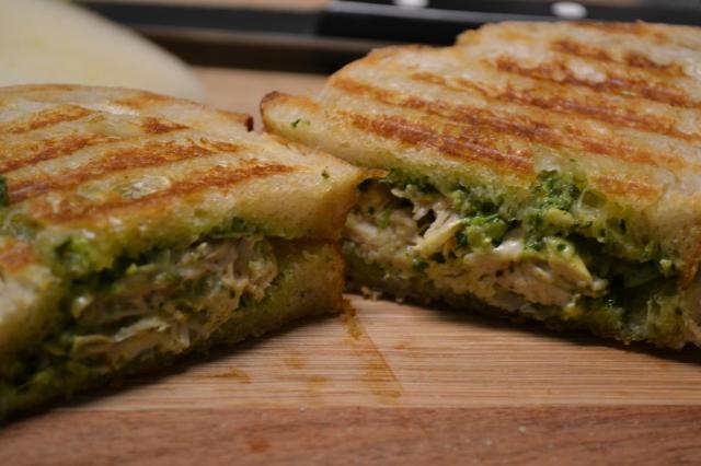 chicken and cilantro pesto panini
