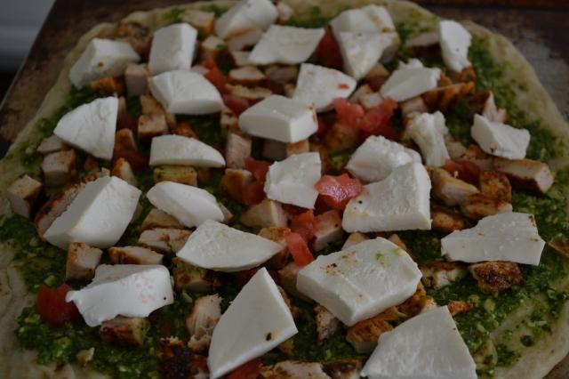 cilantro pesto chicken pizza