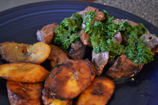 Steak and mojo and plantains